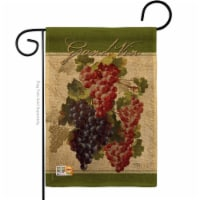 13 x 18.5 in. Red & Purple Grapes Burlap Food Fruits Impressions Decorative Vertical Double S - 1