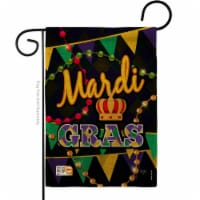 13 x 18.5 in. Time To Mardi Gras Burlap Spring Impressions Decorative Vertical Double Sided G - 1