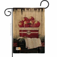 13 x 18.5 in. Ruby Red Country Apple Burlap Food Fruits Impressions Decorative Vertical Doubl - 1