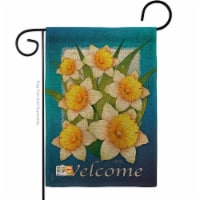 13 x 18.5 in. Daffodils Burlap Spring Floral Impressions Decorative Vertical Double Sided Gar - 1