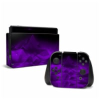 DecalGirl NSW-CRYST-PRP Nintendo Switch Skin - Dark Amethyst Crystal - 1
