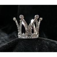 Tian Sweet 34009-SV 0.6 oz Small Rhinestone Crown Cake Topper - Silver