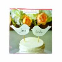 Kole Imports AF677-64 Birch Love Birds Cake Topper - Case of 64 - 1