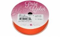 Morex Ribbon Grosgrain 7/8 x 7yd Torrid Orange - 1