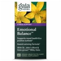 Gaia Herbs Stress Support Emotional Balance Vegan Liquid Phyto-Caps