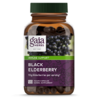 Gaia Herbs Black Elderberry Liquid Phyto Capsules, 120 Vegetarian Capsules - 120
