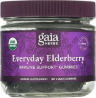 Gaia Herbs Everyday Elderberry Immune Support Vegan Gummies