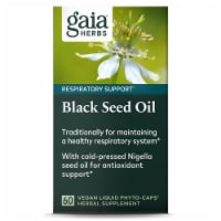 Gaia Herbs Black Seed Oil Respiratory Support Supplement
