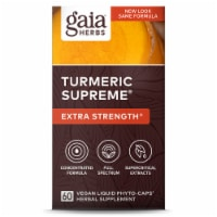 Gaia Herbs Turmeric Supreme Extra Strength Dietary Supplement Liquid Phyto-Caps