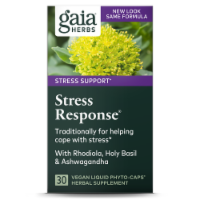 Gaia Herbs Stress Support Stress Response Herbal Supplement Liquid Capsules