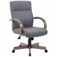 Boss Office Albany Ergonomic Swivel Executive Office Chair in Gray - 1
