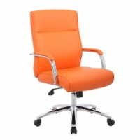 Boss Mid Century Mod Executive Conference Chair in Orange - 1