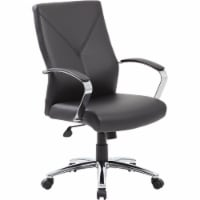 Boss Office LeatherPlus Executive Office Chair in Black - 1
