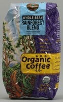 The Organic Coffee Co  Whole Bean Coffee   Rainforest Blend