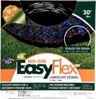 EasyFlex No-Dig Scalloped Landscape Edging - Black - 20 Foot