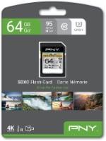 PNY Elite Performance SDXC Memory Card - Black