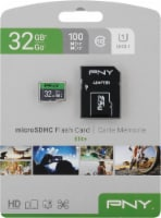PNY Elite MicroSDHC Memory Card and Adapter - Gray/Green