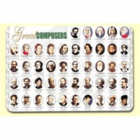 Painless Learning COM-1 Great Composers Placemat - Pack of 4