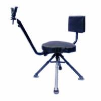 BenchMaster 4 Leg Portable Ground Blind Adjustable Rotating Seat Chair,  Black - 1 Piece