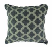 Denim Blue Moroccan Quatrefoil Design Cotton Dhurrie Pillow 20 Inch - Medium