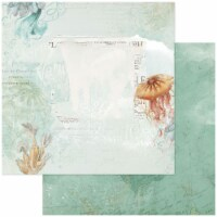 Vintage Artistry Shore Double-Sided Cardstock 12 X12 -Barrier Reef - 1