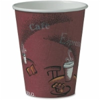 8 fl oz Bistro Design Disposable Paper Cups, Maroon - Pack of 50 - 1
