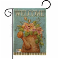 BD-SH-G-100051-IP-DB-D-US12-AM 13 x 18.5 in. Welcome Watering Can Burlap Inspirational Sweet