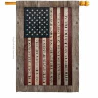 Breeze Decor H111091-BO Pledge of Allegiance House Flag Patriotic Star & Stripes 28 x 40 in. - 1