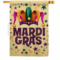 Breeze Decor H118014-BO Celebration Mardi Gras House Flag Spring 28 x 40 in. Double-Sided Dec - 1