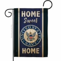 Breeze Decor G158451-BO Home Sweet Navy Garden Flag Armed Forces 13 x 18.5 in. Double-Sided D