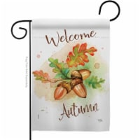 Breeze Decor G163095-BO Welcome Autumn Garden Flag Fall Harvest & 13 x 18.5 in. Double-Sided