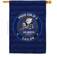 Breeze Decor H108593-BO Seabees Proud Son Sailor House Flag Armed Forces Navy 28 x 40 in. Dou - 1