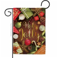 Breeze Decor G164221-BO Have A Holy Jolly Garden Flag Winter Christmas 13 x 18.5 in. Double-S