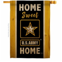 Breeze Decor H108450-BO Home Sweet US Army House Flag Armed Forces 28 x 40 in. Double-Sided D - 1