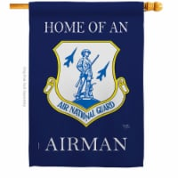 Breeze Decor H108470-BO Home of Air National Guard Airman House Flag Armed Forces Army 28 x 4