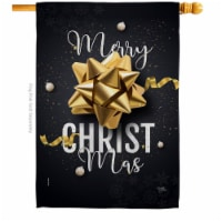Breeze Decor H114225-BO Christmas Gifts House Flag Winter 28 x 40 in. Double-Sided Decorative - 1