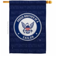 Breeze Decor H108502-BO Proud Brother Sailor House Flag Armed Forces Navy 28 x 40 in. Double- - 1