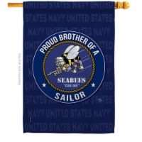 Breeze Decor H108503-BO Seabees Proud Brother Sailor House Flag Armed Forces Navy 28 x 40 in. - 1