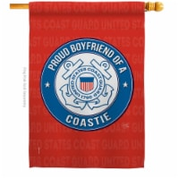 Breeze Decor H108508-BO Proud Boyfriend Coastie House Flag Armed Forces Coast Guard 28 x 40 i