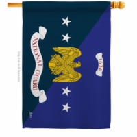 Americana Home & Garden H140906-BO 28 x 40 in. National Guard Bureau House Flag with Armed Fo - 1