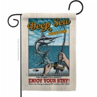 Breeze Decor G159077-BO 13 x 18.5 in. Fishing Tours Garden Flag with Sports Double-Sided Deco