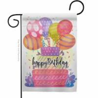 Breeze Decor G165182-BO 13 x 18.5 in. Happy Birthday Balloon Garden Flag with Celebration Dou - 1