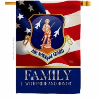 Breeze Decor H108618-BO 28 x 40 in. US Air National Guard Family Honor House Flag with Armed - 1