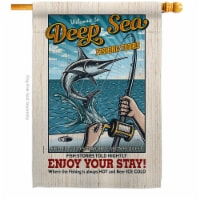 Breeze Decor H109077-BO 28 x 40 in. Fishing Tours House Flag with Sports Double-Sided Decorat