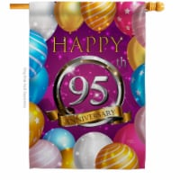 Breeze Decor H115202-BO 28 x 40 in. Happy 95th Anniversary House Flag with Celebration Double - 1