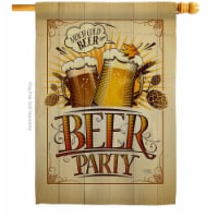 Breeze Decor H117061-BO 28 x 40 in. Beer Party House Flag with Beverages Double-Sided Decorat - 1