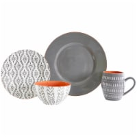 Baum Tangiers Dinnerware Set - Grey - 16 pc