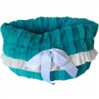 Aqua Reversible Snuggle Bugs Pet Bed, Bag & Car Seat - 1