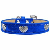 Crystal Heart Dog Collar, Blue Ice Cream - Size 18 - 1