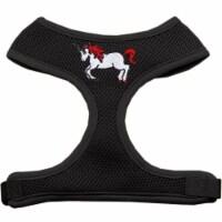 Unicorn EmbroideRed Soft Mesh Harness, Black - Extra Large - 1